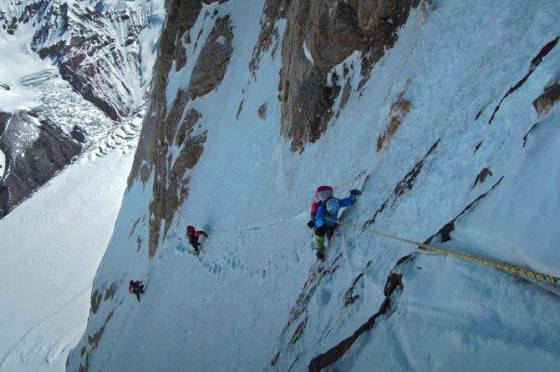 Samina Baig on the west ridge of K2, the world's second highest mountain, and arguably the most difficult to climb.