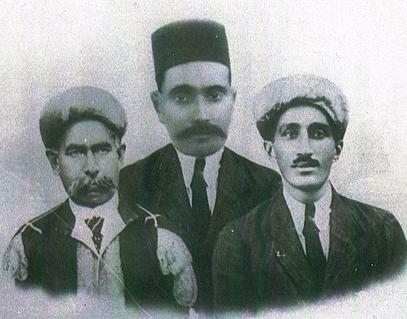 Portraits of the three Shahids, Karmali Dahya, Lalji Ladha and Missionary Khudabaksh Talib (right), who died when their lorry slid into a ditch near Kilosa in 1925. The photo was displayed in the lobbies of jamatkhanas around East Africa at the instruction of the 48th Ismaili Imam, Mawlana Sultan Mahomed Shah, His Highness the Aga Khan (1877-1957). Photo: Anverali Talib Family Collection, Montreal, PQ, Canada.