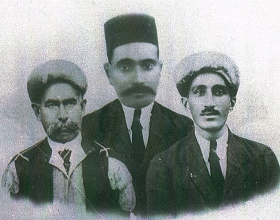 Portraits of the three Shaheeds, Karmali Dahya, Lalji Ladha and Missionary Khudabaksh Talib (right), right who died when their lorry slid into a ditch near Kilosa in 1925. The photo was displayed in the lobbies of jamatkhanas around East Africa at the instruction of the 48th Ismaili Imam, Mawlana Sultan Mahomed Shah, His Highness the Aga Khan (1877-1957). Photo: Anverali Talib Family Collection, Montreal, PQ, Canada.