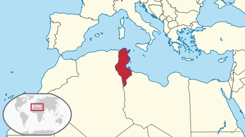 Location of Tunisia in North Africa. Please click on map for remarks by His Highness the Aga Khan