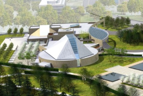 An artistic rendering of the Ismaili Centre, the Aga Khan Museum and their Park. Photo: The Ismaili/Imara.
