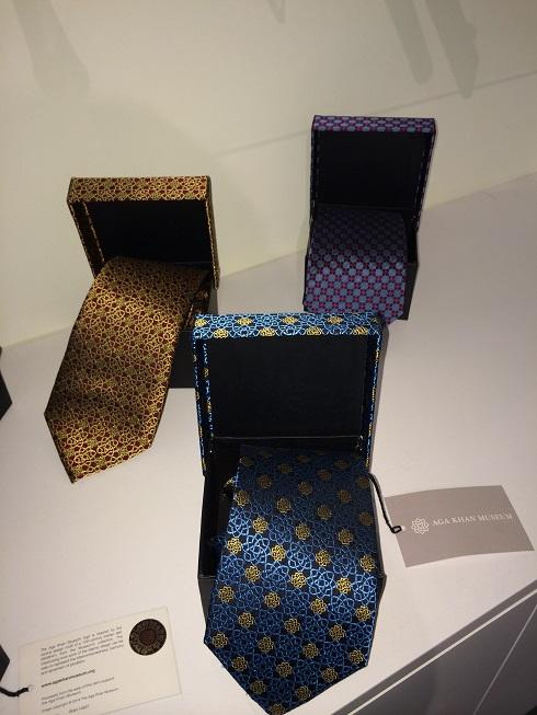 Men's ties at the Aga Khan Museum Gift Shop.