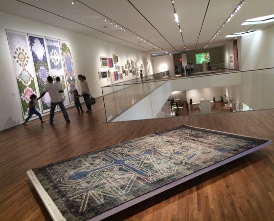 """Garden of Ideas"" exhibition in the upper gallery of the Aga Khan Museum. Photo: Malik Merchant/Simerg. Please click for article."