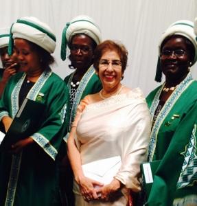 Shariffa Keshavjee with Graduates in Nairobi. Photo: Shariffa Keshavjee