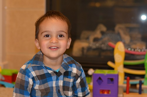 One of Yasmin Hasan's poems is dedicated to her grandson, Kian, pictured above. Please click on photo for her anthology. Photo: Yasmin Hasan.