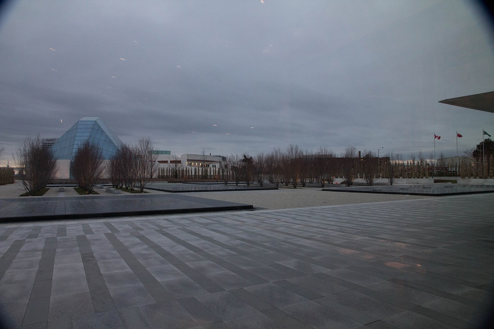 A panoramic view taken from the Aga Khan Museum, with the Ismaili Centre in the background. Photo: Rian Dewji, Toronto. Copyright.