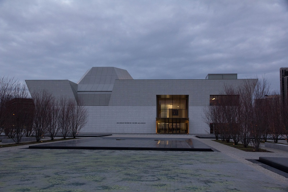 The Aga Khan Park photographed in December 2014, with the  Aga Khan Museum in the background. Photo: Rian Dewji, Toronto. Copyright.