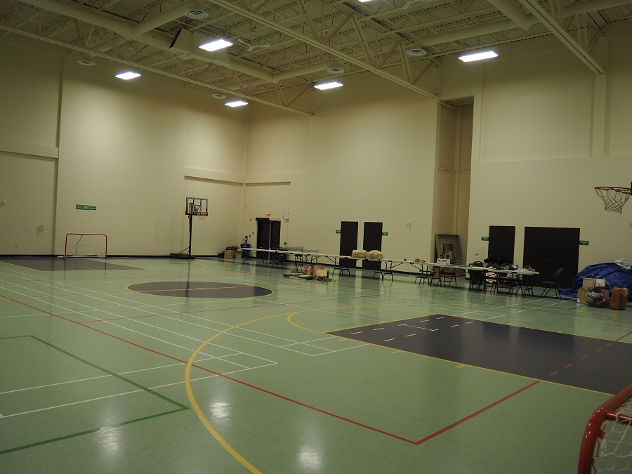 South Nepean Muslim Community. The gymnasium, which is adjacent to the prayer hall. Muslim youth participate in sports in large numbers and also have special programs catered for  their cultural and religious growth. Photo: Simerg/Malik Merchant