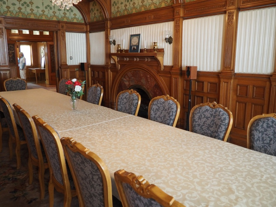 The Embassy of Algeria. The lavish dining room for diplomats. Photo: Simerg/Malik Merchant.