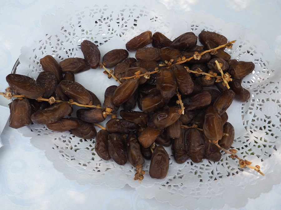 Visitors to the Algerian Embassy's Doors Open were served hot sweet mint tea and fresh Algerian dates. Truly these were the best  I have tasted in my life. Photo: Simerg/Malik Merchant
