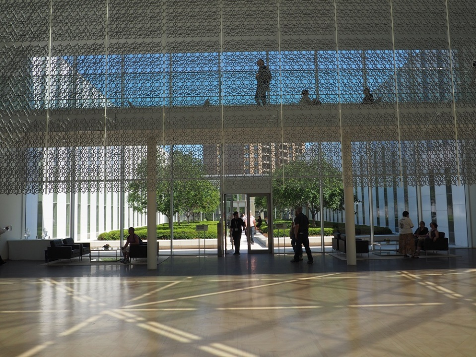 Visitors seen at the upper level of the Delegation of the Ismaili Imamat during the 2015 Ottawa Doors Open. The building attracts more than 2000 visitors during the annual event. Photo: Simerg/Malik Merchant.
