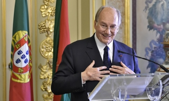 Mawlana Hazar Imam thanking the government for inviting the Ismaili Imamat to establish its permanent Seat in Portugal. TheIsmaili/Gary Otte