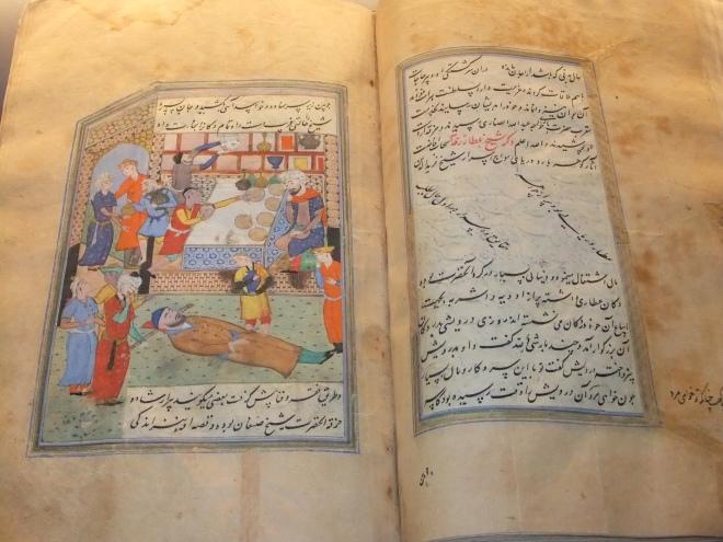 A manuscript by Farid Al Din Attar kept in Pergamon Museum, Berlin, Germany. Photo: Wikipedia.