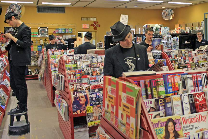 Mags & Fags before the recent transformation. Now the magazine section is confined to the shelf area shown at left. Photo: Mags & Fags.