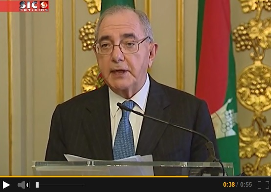 Portugal's Minister of Foreign Affairs speaking at the signing of the Agreement  establishing the Seat of the Ismaili Imamat in Portugal. Please click on image to view a video clip of the remarks.