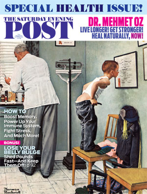 The Saturday Evening Post, one of my regular monthly investments for its great features as well as wonderful health gems.