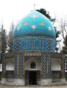 The Mausoleum of Attar in Nishapur, Iran. Attar had an immense and lasting influence on Persian poetry and Sufism. Photo: Wikipedia.