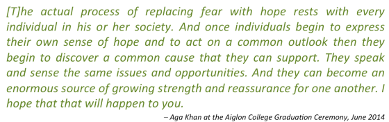 Aga Khan Quote