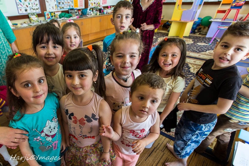 Happy Children Faces at the Dushnabe Ismaili Centre. Please click on image for Muslim Harji's Photo Essay.