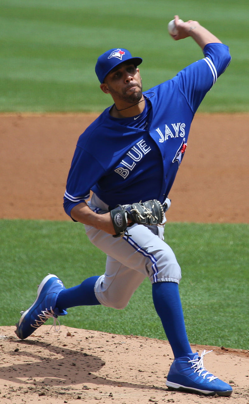 David Price on the mound for Toronto on August 8, 2015. Photo: Wikipedia.