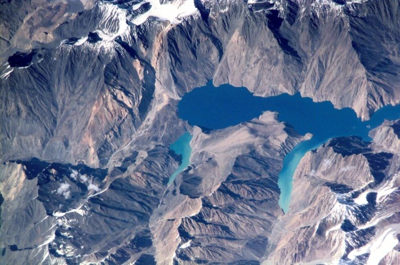 Lake Sarez in the Pamirs of Tajikistan