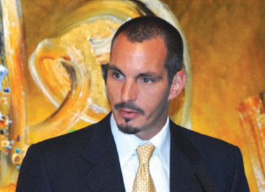 Prince Rahim Aga Khan delivering his commencement address for the Graduation Ceremony of the Institute of Ismaili Studies held at the Ismaili Centre in London in 2007.