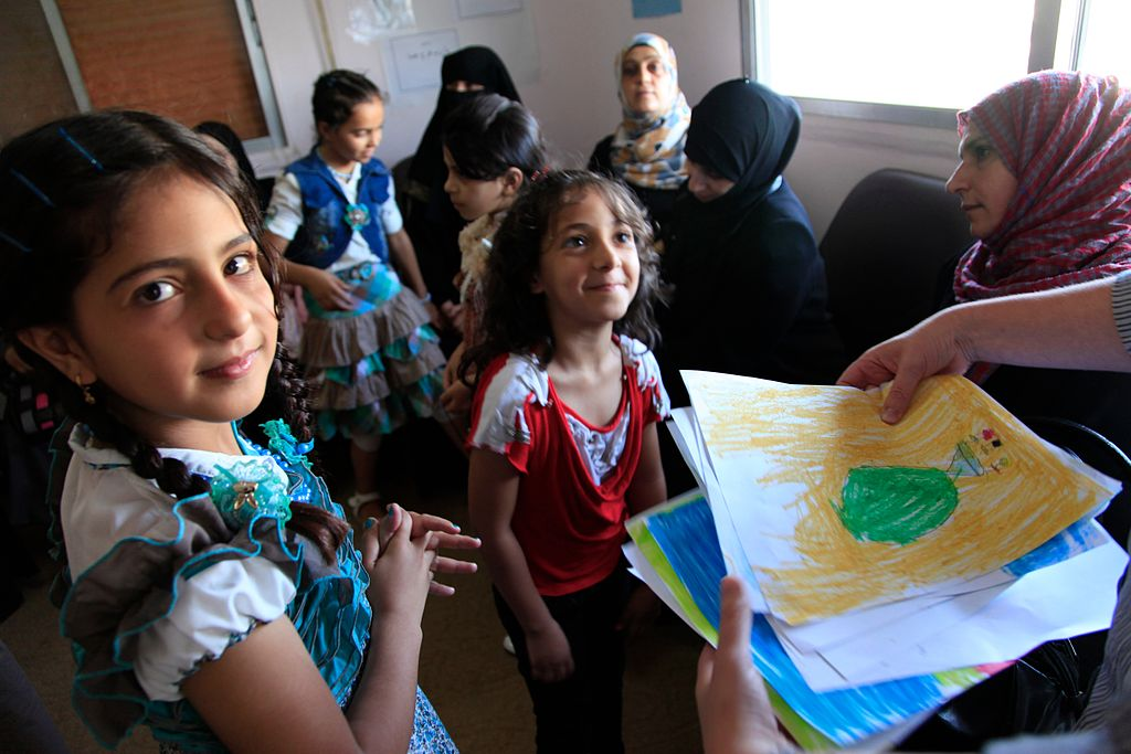 Refugee children from Syria at a clinic in Ramtha, northern Jordan. Photo: Wikipedia.