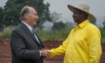Aga Khan and Musoveni at the Land Grant Ceremony