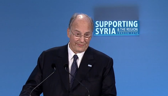Aga Khan 2016 Support Syria Conference London