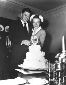 Newlyweds Ronald and Nancy Reagan, March 4, 1952.