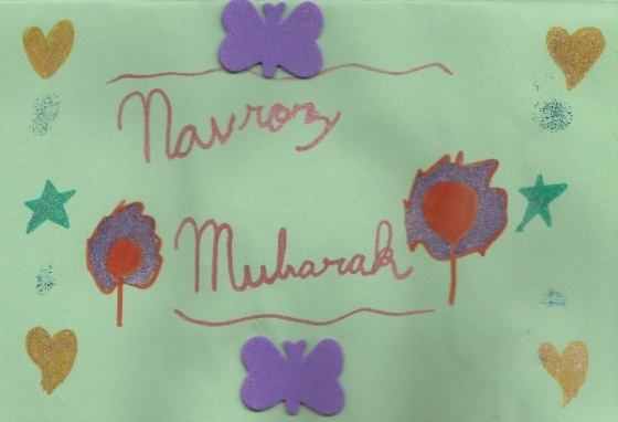 Navroz greeting from an Ismaili student 2