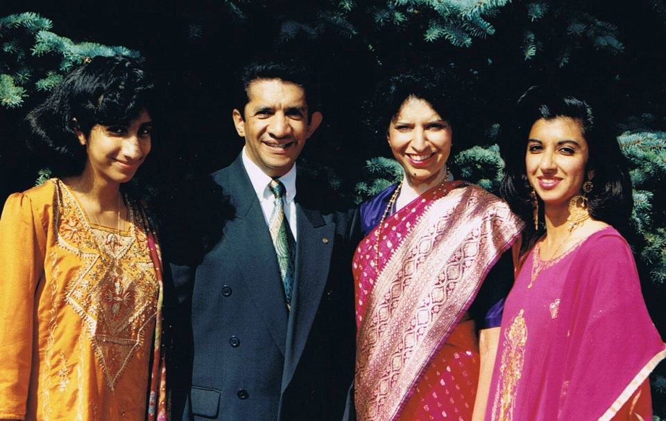 Sultan Jessa of Montreal with his wife and daughters