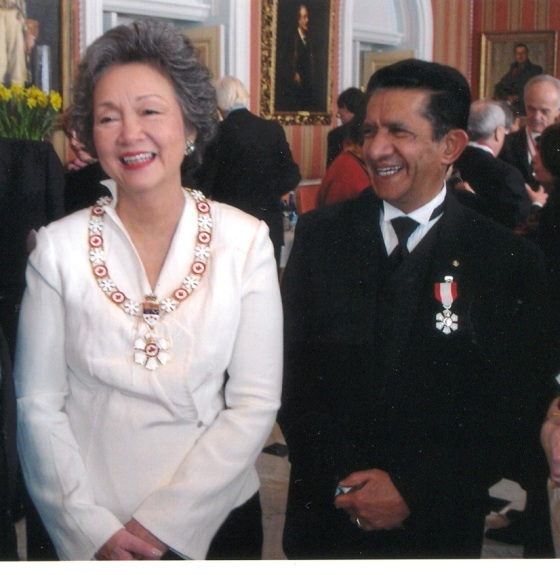 Veteran journalist Sultan Jesssa receiving Canada's Highest Honour
