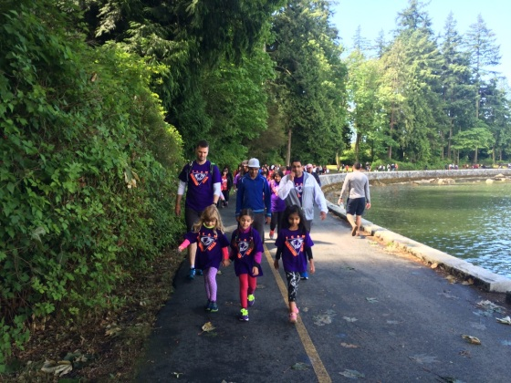 Children lead the way at the World Partnership Walk held in Vancouver on Sunday, May 29, 2016. Photo: Malik Merchant. Simerg. Please click on image for more photos