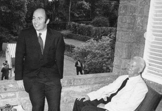 His Highness the Aga Khan, Mawlana Hazar Imam, with Mr  Frank Pattrick