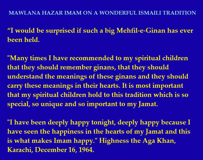 Mawlana Hazar Imam on Ginans