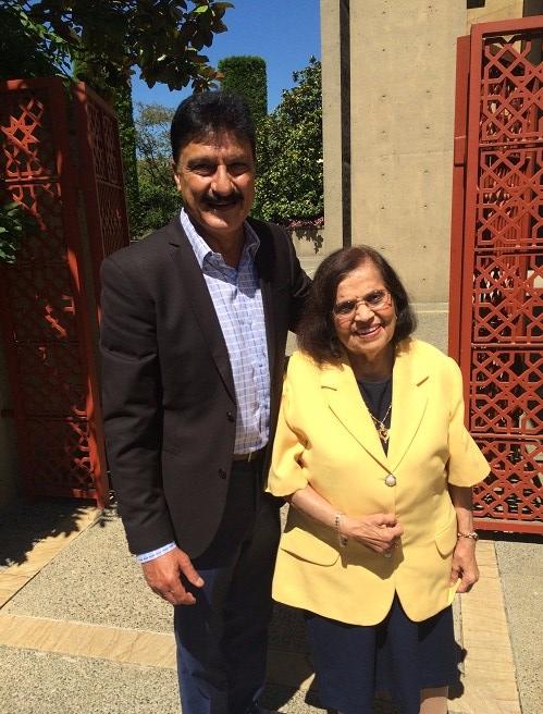 Mrs. Merchant with Nazim Rawji