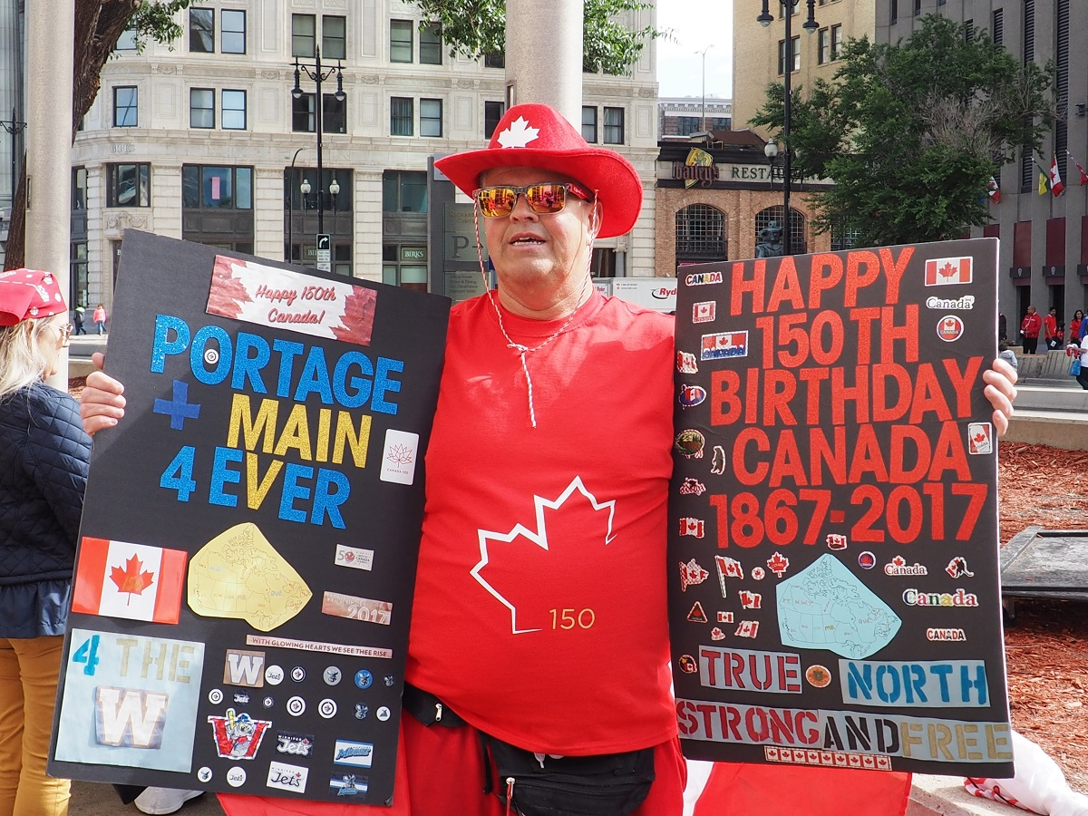 Canada Day Celebrations at Portage and Main in Winnipeg