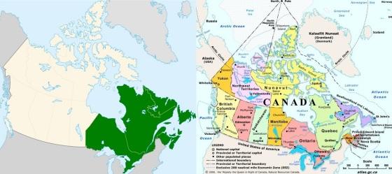Eastern Canada Maps