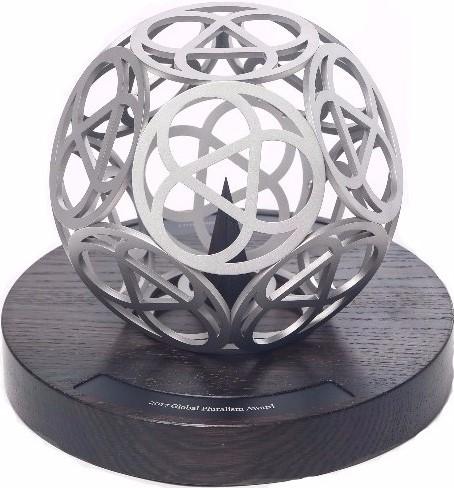 Karl Schlamminger Pluralism Award Sculpture