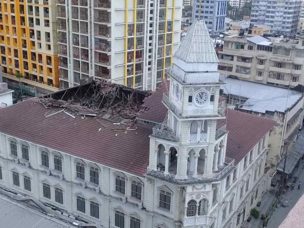 Ismaili Darkhana Jamatkhana roof collapse September 3 2019