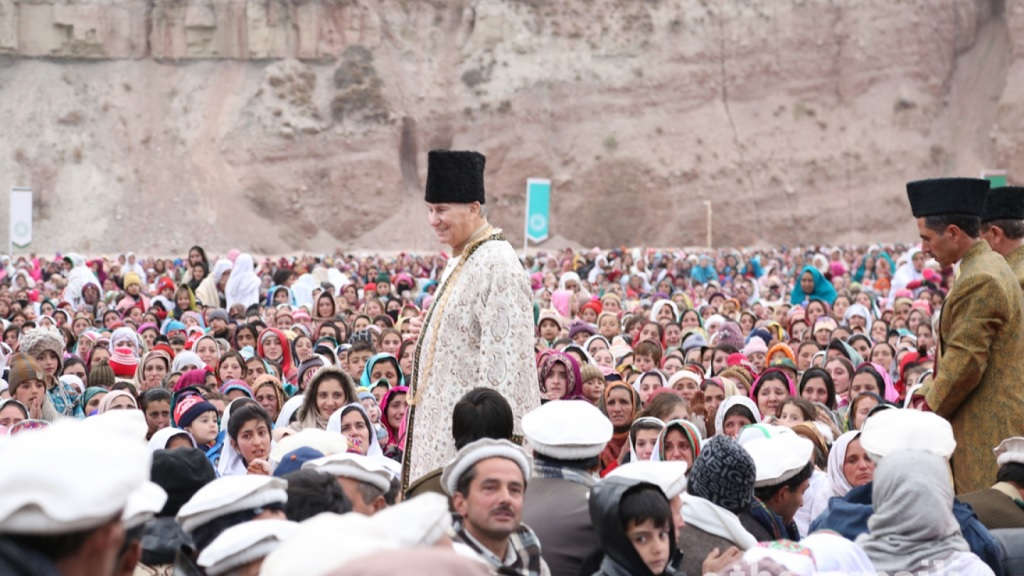 Mawlana Hazar Imam, His Highness the Aga Khan, in Booni Chitral.