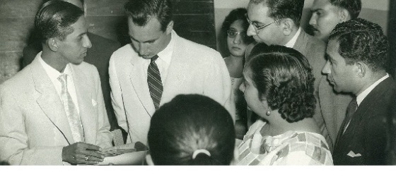 His Highness the Aga Khan and Jehangir Merchant in Lourenco Marques, Mozambique