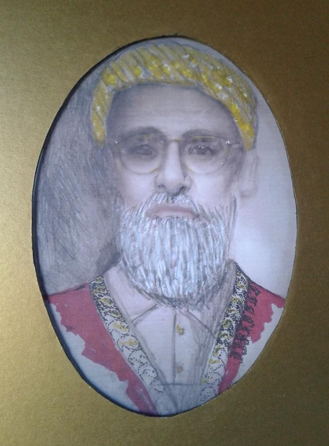 Alladin Suleman Hasham Mohamad Giga Patney of Chhachhar, Kathiawar. Gujarat, India.  c1910, Ismaili Simerg