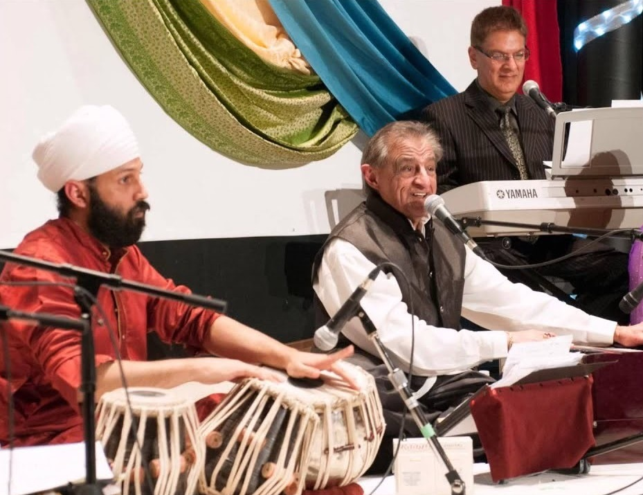 Shamshu Jamal and fellow musicians performing in Vancouver. Photo for Simerg