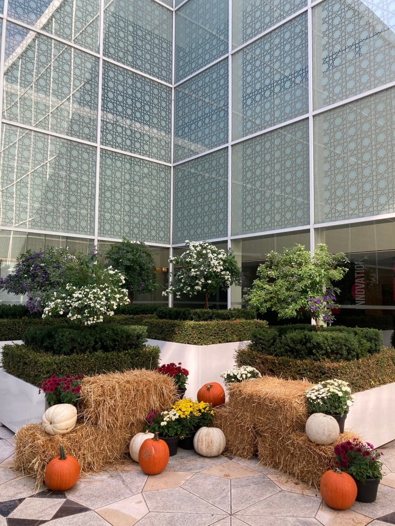 Aga Khan Museum Courtyard Pumpkin Decoration Simerg Malik Merchant