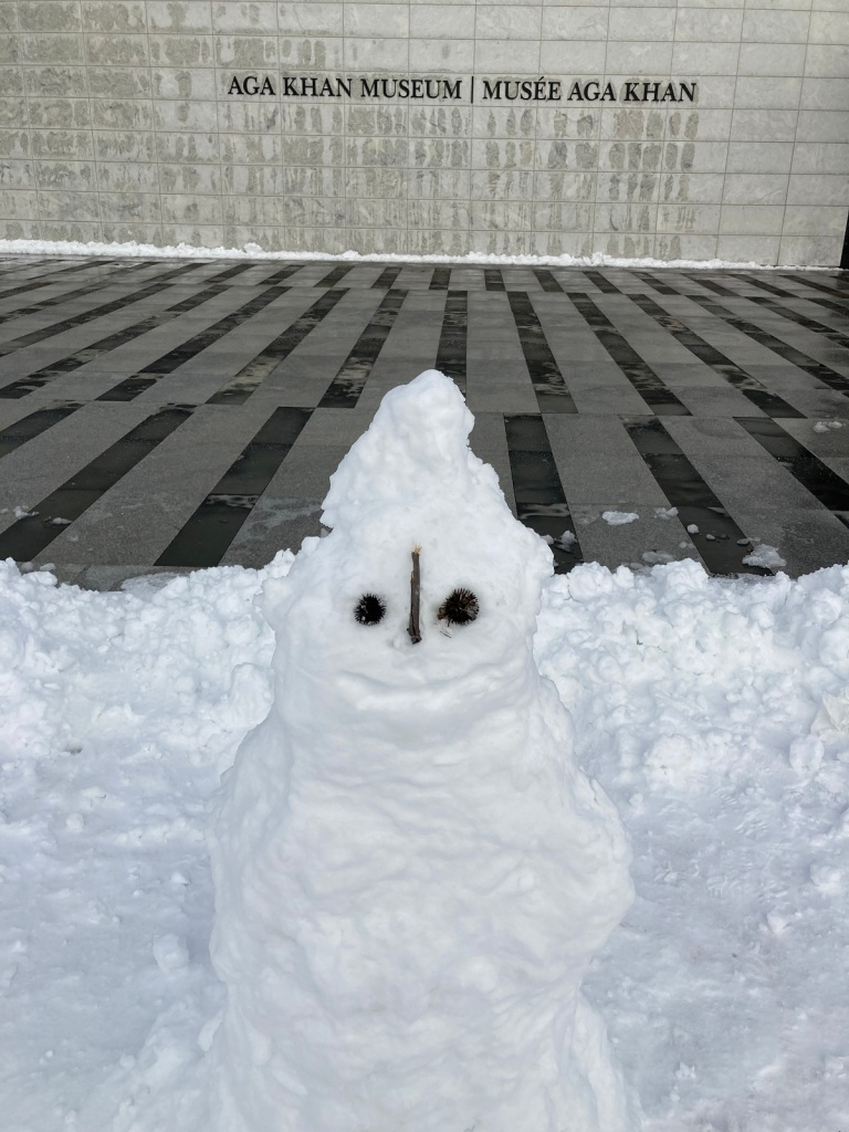 Snowman at Aga Khan Museum Malik Merchant