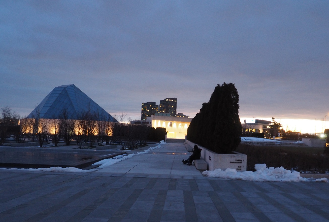 Sun set New Years Eve Aga Khan Park and Ismaili centre