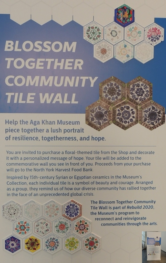 Community wall messages of hope Aga Khan Museum Simerg Malik Merchant