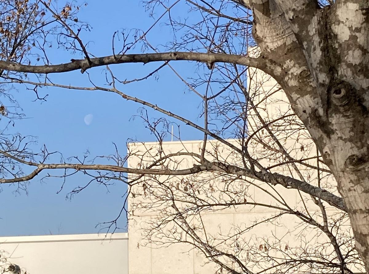 Daytime Moon, Ismaili Centre, Aga Khan Park
